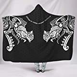 weipengda-Fashion Shoes Viking Ragnarok Cuddly Colorful Hooded Blanket 3D Printed for Room in