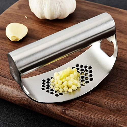 Urijk Knoblauchpresse Küche Knoblauchwippe 304 Edelstahl Wippe Küchengerät Knoblauchschneider Küchenhelfer