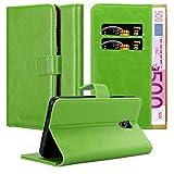 Cadorabo Hülle für Lenovo P2 - Hülle in Gras GRÜN – Handyhülle im Luxury Design mit Kartenfach & Standfunktion - Hülle Cover Schutzhülle Etui Tasche Book