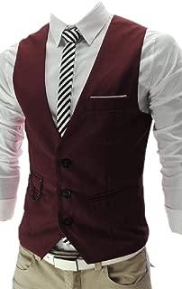 Mens Coat Solid Office OL Tailored Fit Vest