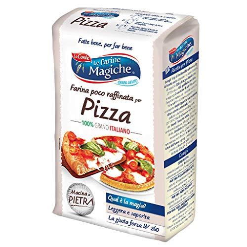 Le Farine Magiche Farina per Pizza, Farina poco raffinata, Sapore intenso, ideale per la produzione di Pane e Pizza, Confezione da 1 kg