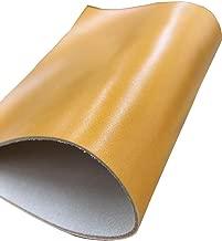 【1.5mm厚】ヌメ革 キャメル 20cm×30cm 6デシ セミアニリン仕上げ/はぎれ ハギレ タンニン鞣し レザークラフト 牛革