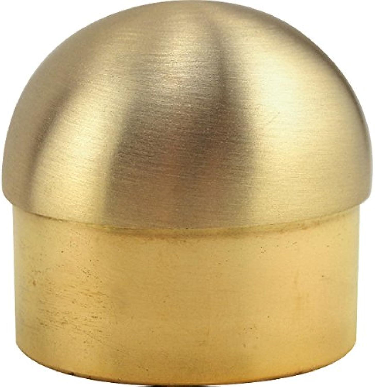 KegWorks Domed End Cap - Brushed (Satin) Brass - 2  OD