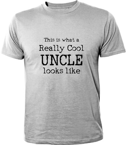 Mister Merchandise Cooles Herren T-Shirt What a Really cool Uncle Looks Like, Größe: M, Farbe: Grau