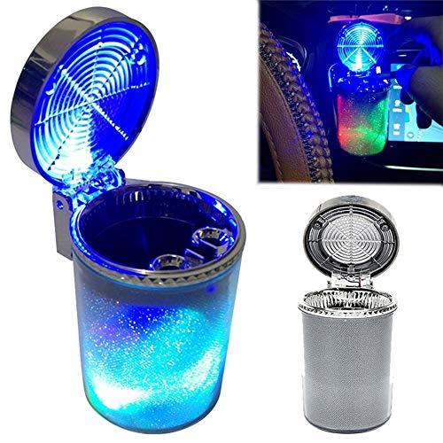 Daxoon Cilindro portátil de la Ceniza de Humo del cenicero del Coche LED Que Brilla para el Coche, hogar, Oficina