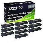 Paquete de 10 cartuchos de tóner (negro), compatible con impresoras Lexmark B222H00 (alta capacidad), compatible con impresoras Lexmark B2236DW, MB2236ADW, MB2236ADWE