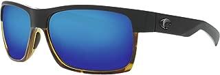 Costa Del Mar HFM181OBMGLP Half Moon Blue Mirror 580G Matte Black/Shiny Tortoise Frame Half Moon, Matte Black/Shiny Tortoise Frame, Blue Mirror 580G