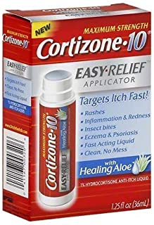 Cortizone 10 Hydrocortisone Anti-Itch Liquid, Easy Relief Applicator 1.25 fl oz (pack of 2)