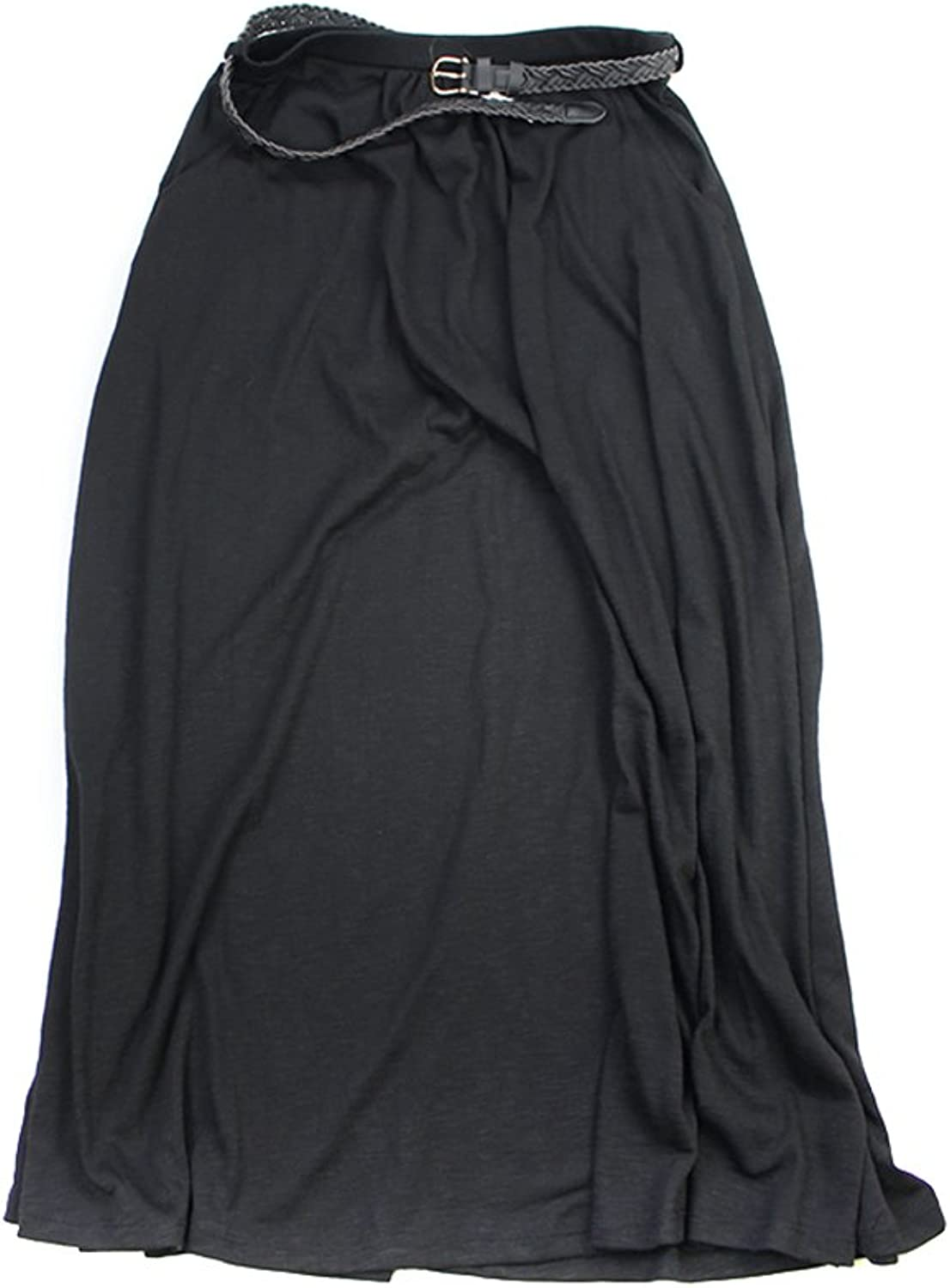 Style & Co. Black Belted Jersey Skirt S