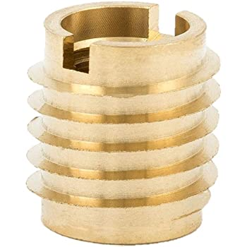 Hex-Flanged Pack of 50 Zinc E-Z Lok Threaded Insert 0.394 Length #10-32 Internal Threads 901032-10 0.394 Length Pack of 50