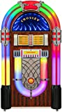 Crosley CR1215A-WA Full Size Digital Bluetooth Jukebox with CD, AM/FM Radio and Color Changing LED Lights, Walnut