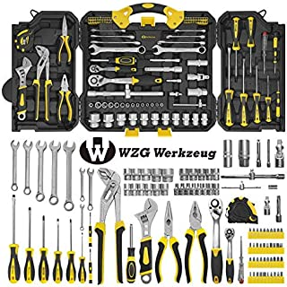 Sponsored Ad – WZG Werkzeug 99PCS Socket Wrench Set Tool Set with Strong Carry Case for DIY Home use