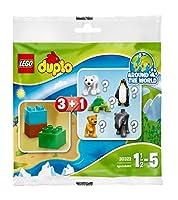 Lego Duplo Surprise Pack / Mystery Bag Wildlife 30322, 1 animal (for example polar bear, penguin, elephant, lion, turtle) + 3 stones