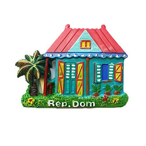 Imán de nevera 3D República Dominicana para viaje, recuerdo de viaje, colección de pegatinas magnéticas