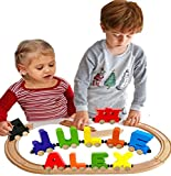 Name Puzzle Build Your Own Train Alphabet Railroad Large Letters Train & Wagon Included