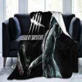 Bargley Lightweight Luxury Throw Blanket Fannel Fleece Microfiber Plush Bed Blanket Horror Game Daylight Dead Killers The Huntress Super Soft Reserviber Blanket for All Season Bed Couch Sofa 80' X60
