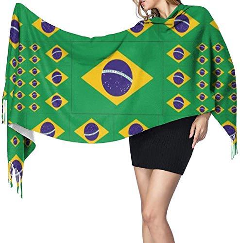 Brazilië vlag zachte kasjmier sjaal wrap sjaals lange sjaals voor vrouwen office partij reizen 68X196 cm