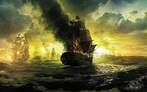 Decorsy Rompecabezas Puzzle 1000 Piezas Adultos Paisaje De Guerra De Barco Pirata Colección Moderna De Decoración Del Hogar