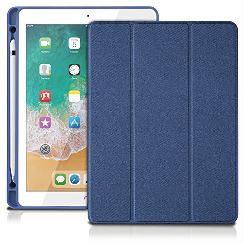 Price comparison product image TNP Case for iPad Air 3 2019 Case with Pencil Holder - Ultra Slim Lightweight Smart Shell Folio Cover Case with Multi-Angle Standing,  Smart Auto Wake / Sleep Built-in Apple Pencil Slot (Blue)