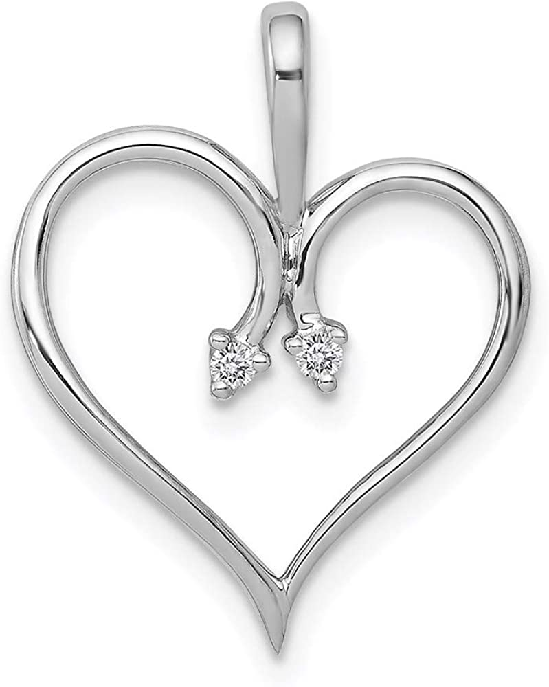 14k White Gold Heart PM4821-002-W Mounting Pendant Fixed price for sale style Max 77% OFF