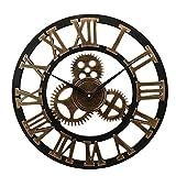 Orologio da parete industriale Gear Orologio da parete decorativo da parete stile industriale 50 x 50 x 5 cm