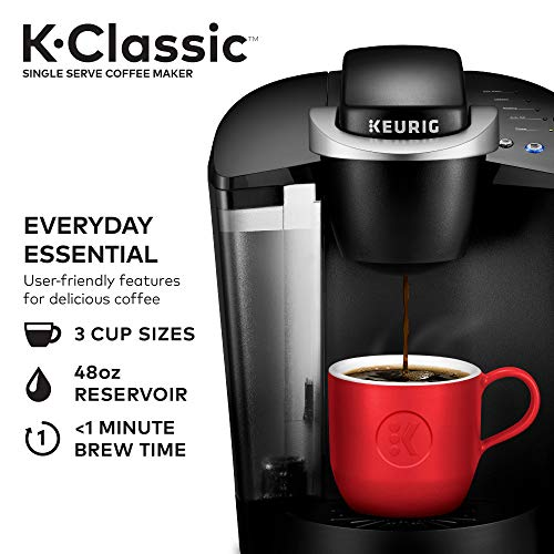 Keurig K-Classic Coffee Maker with Coffee Lover's 40 ct K-Cup Pods...