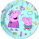 Procos 20011 Platos de papel 23cm CF8 Peppa Pig Juego Desordenado