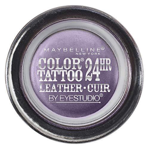 Maybelline New York Eye Studio Color Tattoo Leather 24 HR Cream Gel Eyeshadow, Vintage Plum, 0.14 Ounce by Maybelline