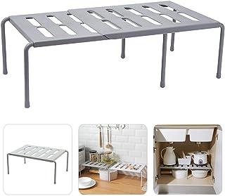 Volcwo Extensible étagère de Cuisine, égouttoir pratique pour plus d'espace de rangement Rangement de Cuisine, Salle de Ba...