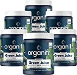 Organifi Green Juice - Organic Superfood Powder - 180-Day Supply - Organic Vegan Greens - Helps Decrease Cortisol - Provides Better Response to Stress - Supports Weight Control - Total Body Wellness