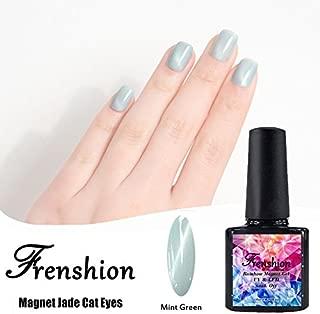 Frenshion Magnetic Cat Eye Jade Gel Polish 3D Gel Nail Polish Soak Off UV LED Mint Green 10ml