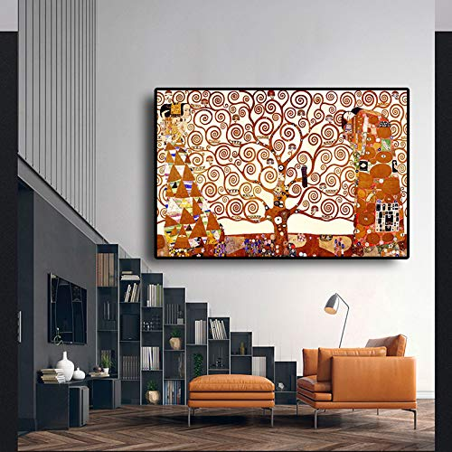 Geiqianjiumai levensboom olieverfschilderij poster en drukgrafiek kunst afbeelding woonkamer