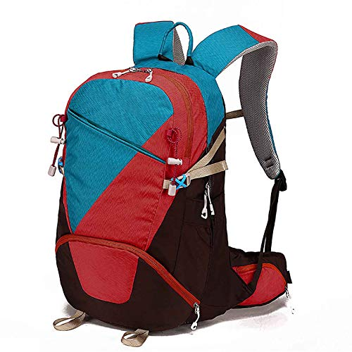 JIEXIAO Hiking Backpack 30 Liters Hiking Backpack Waterproof Outdoor Hiking Camping Camping Mountaineering Backpack,Blue