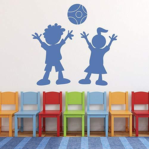 Niños calcomanías de pared niños juegan a la escuela aula guardería área de juegos decoración de interiores puertas ventanas pegatinas de vinilo niños niñas mural