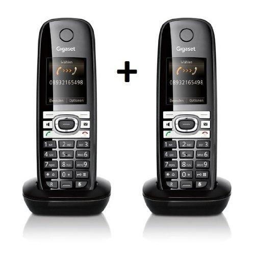 Siemens Gigaset 2x C610H Mobilteil schwarz