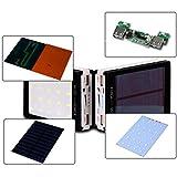 Hunpta solaire LED portable à double USB Power Bank Chargeur de batterie externe 5x 18650DIY Box Coque