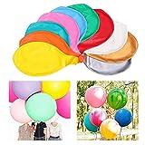 Sunshine smile 36-Zoll 10Stück Luftballons Bunt, Grosse Luftballons, Latex Luftballons, Riesen Luftballons, Ballon Helium Groß, Luftballons für Party Geburtstag Hochzeit Dekoration