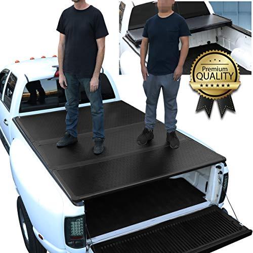 DNA Motoring TTC-HARD-010 Truck Bed Top Hard Solid Tri-Fold Tonneau Cover...