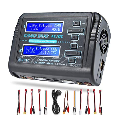 DUO Dual Multi-Charger AC 150W /DC 240W 10A RC Balance Charger Discharger for...
