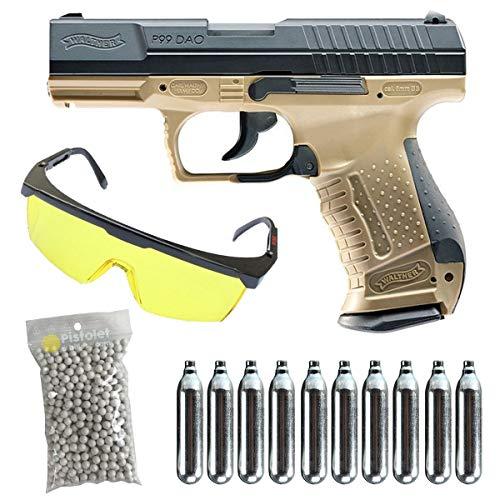 Well P99TDAO - Pack bicolor/semiautomático/Blowback/ABS-metal/Potencia 0,5 Joule/Incluye accesorios