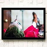 yiyiyaya Joker Joaquin Phoenix Heath Hauptbuch Films Wandkunst Gemälde Druck auf Leinwand Wohnzimmer Poster Bilder Wohnkultur 40x60cm