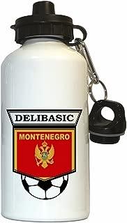 Andrija Delibasic (Montenegro) Soccer Water Bottle White