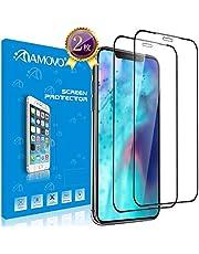 【2019 iPhone為の改良3D】AMOVO iPhone 11 Pro ガラスフィルム iPhone Xs/Xにも対応 「独創デザイン」 日本旭硝子素材 ケースに対応 iPhone 11 Pro フィルム 5.8インチ Face IDに対応 自己吸着 硬度9H 薄さ0.26mm 極薄 指紋防止 (iPhone 11 Pro/Xs/X, 2枚入)