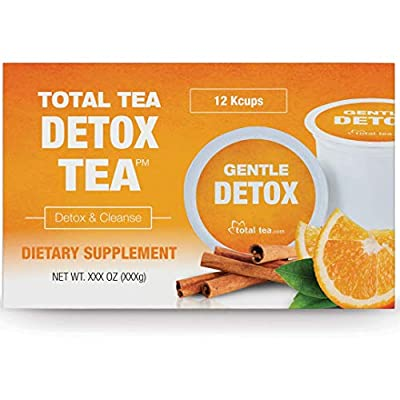 Total Tea Herbal Detox Tea K-Cup - Slimming Herbal Tea, Gentle Cleanse and Detox - Reduce Bloating & Belly Fat, Caffeine Free, All Natural for Men & Women - Compatible with 2.0 Kcup, 12 Count Tea Pods from Total Tea