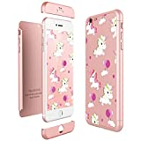 CE-LINK Housse Etui en PC Matière pour iPhone 6 / iPhone 6s, Coque iPhone 6 / iPhone 6s, Ultra-Mince 3 Part 360 Degrés Cover pour Apple iPhone 6 / 6s (4,7 inch) Anti Fine - Or Rose B079GRDLLB