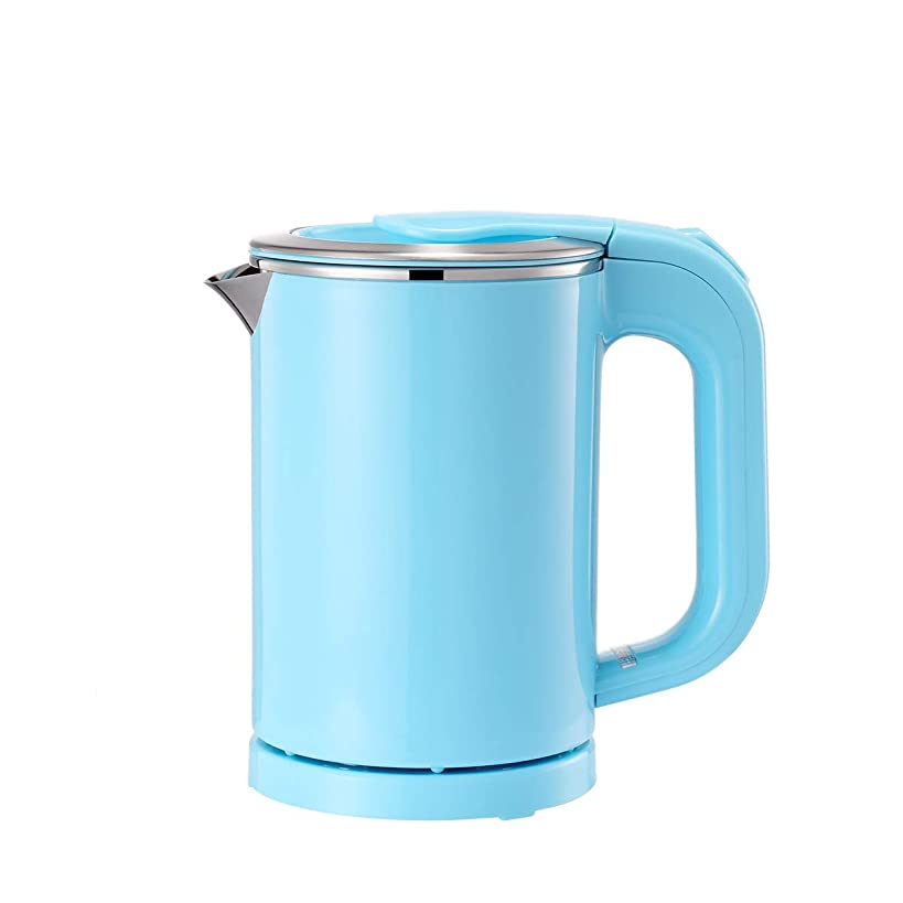 BonNoces Portable Electric Kettle - 0.5L Small Stainless Steel Travel Kettle - Quiet Fast Boil & Cool Touch - Perfect for Traveling Boiling Water, Coffee, Tea(Blue)