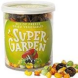 Supergarden Mix di verdure liofilizzate - Spuntino salutare - 100% Puro e naturale - Adatto ai vegani - Senza zuccheri aggiunti, senza additivi artificiali e senza conservanti - Senza glutine