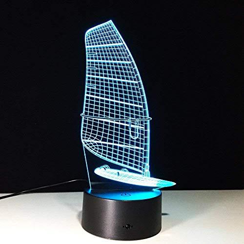Kaars model 3D LED-lamp nachtlicht met USB-kabel verlichting als binnendecoratie van de kamer, 7 kleuren decoratie verjaardagscadeau
