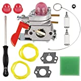 530071811 Carburetor Air Filter AC04122 Fuel Line Kit for Poulan Pro 530071811 LE Featherlite PP025 PP125 P4500 PP258TP PP25E Trimmer Craftsman C1U-W19