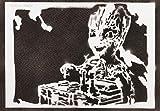 Baby Groot Guardians Of The Galaxy Poster Plakat Handmade Graffiti Street Art - Artwork